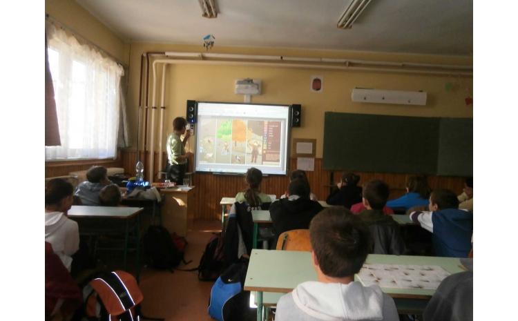 Kihelyezett foglalkozás a Borzavári Általános Iskolában