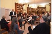 A Bakonyi Finnbarátok Köre Egyesület tagjai a zenészekkel